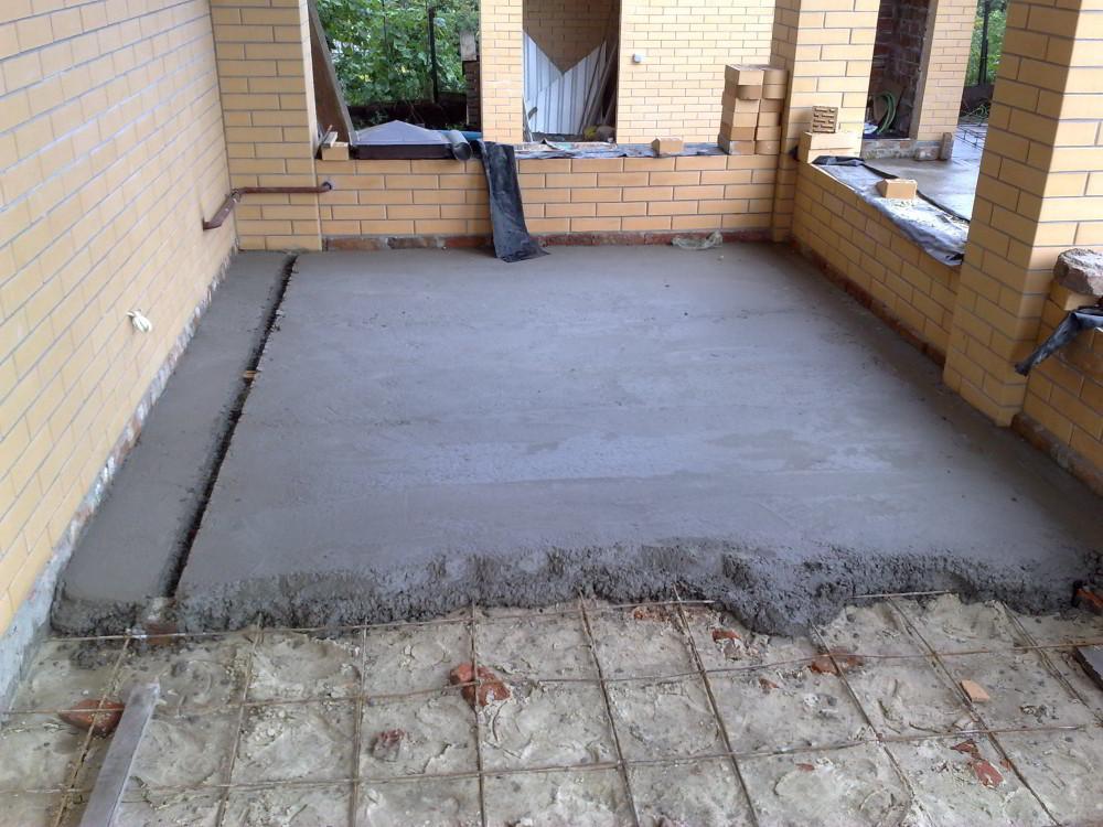 как заливать бетонный пол